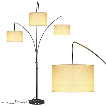 Brightech Trilage Arc Floor Lamp w/ Marble Base.