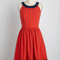 Day In and Date Out A-Line Dress in Cherry Soda | Mod Retro Vintage Dresses | ModCloth.com