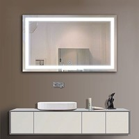36 x 28 In Horizontal LED Bathroom Silvered Mirror with Touch Button (C-N031-I)