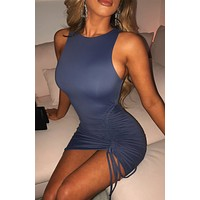 fhotwinter19 Explosion style women's fashion sexy solid color double-layer pleated skirten