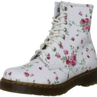 Dr. Martens Women's 1460 Re-Invented 8 Eye Lace Up Boot,White Port Rose Leather,5 UK (7 M US Womens)