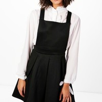 Charlotte Pinafore Dress | Boohoo