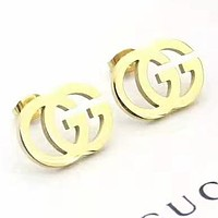 GUCCI New fashion letter earring women jewelry Golden
