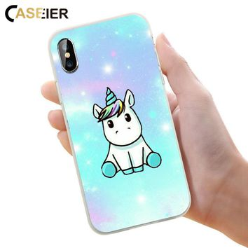 CASEIER Cute Patterned Phone Case For iPhone 6 6s Plus Soft Silicone Cover For iPhone 7 8 Plus X 5 5s SE Luxury Funda Capinha