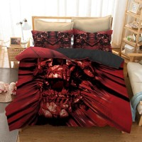 Cool Fanaijia 3pcs skull Bedding Set King size Bohemian skull Print Duvet Cover set with pillowcase AU Queen Bed best gift bedlineAT_93_12