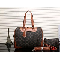 LV Women Leather Luggage Travel Bag Tote Handbag H-MYJSY-BB Tagre™