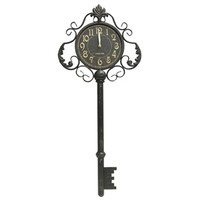 Black Metal Key Wall Clock | Shop Hobby Lobby