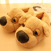 2016 Novelty Dog slippers for Men and women winter lovely