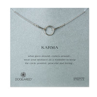 dogeared original karma necklace in sterling silver (16in - 18in)
