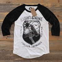 TFFT 3/4 Sleeve Raglan Black