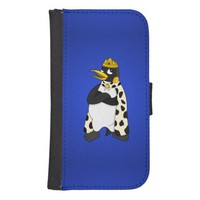 Emperor penguin cartoon galaxy s4 wallet case