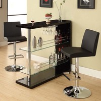 Sleek Contemporary Home Bar at Brookstone—Buy Now!
