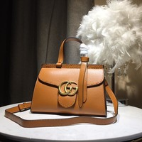 Kuyou Gb5988 Gucci Marmont 421880 Brown Gg Small Shoulder Bag 26x18x11cm