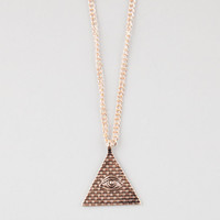 Blue Crown Pyramid Eye Necklace Gold One Size For Men 25585362101