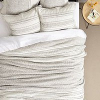 Marled Jersey Quilt by Anthropologie Light Grey