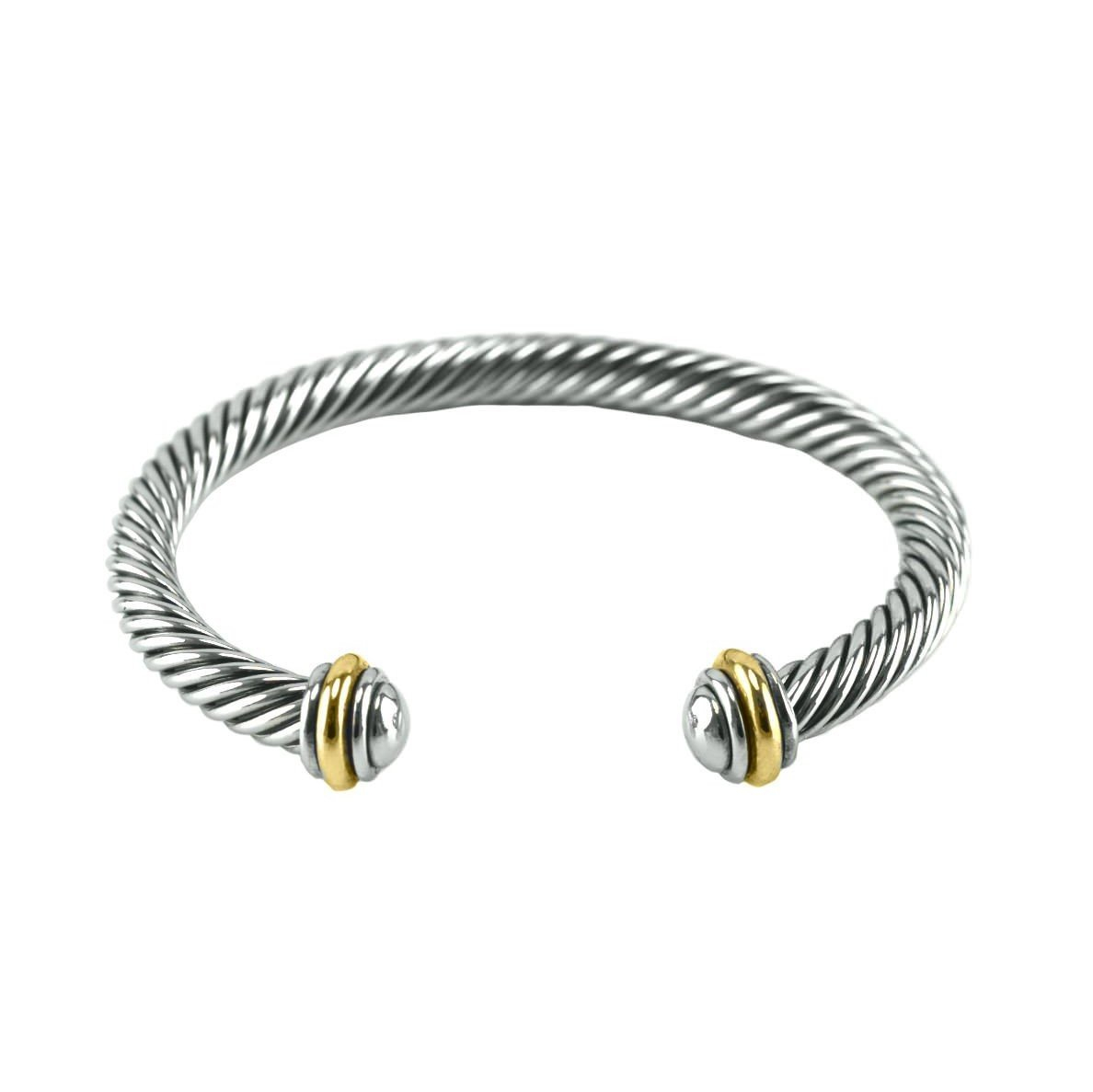 Image of Vinia Two-Tone Cable Bracelet
