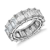 Emerald Cut Diamond Eternity Ring in Platinum (13.00 ct. tw.) | Blue Nile