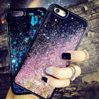 Quicksand Galaxy Case Cover for iPhone 7 7Plus & iPhone 6s 6 Plus +Gift Box B62