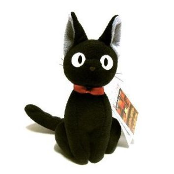 """Kiki's Delivery Service 8"""" Tall Black Cat Plush Doll (Up Right)"""