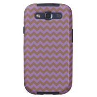 Chevron Violet Bellflower And Coffee Brown Galaxy SIII Case from Zazzle.com
