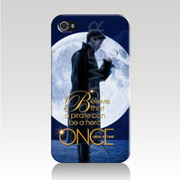 Once Upon A Time Captian Hook Believe IPhone 4/4s Case Cover-Killian Jones-Jolly Rogers-FASTShipping