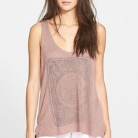 Junior Women's Project Social T 'Moon Child' Knit High/Low Tank,
