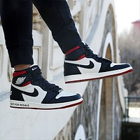 Air Jordan 1 AJ1 high-top casual and versatile sports basketball shoes