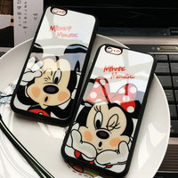 Cartoon Mickey Minnie Mouse Sweetheart Silicone Mirror Cases For iphone 7 6 6s Plus 5 5s SE Back Cover Case For iphone 7 Plus