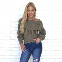 Charming Ways Off Shoulder Knit Sweater