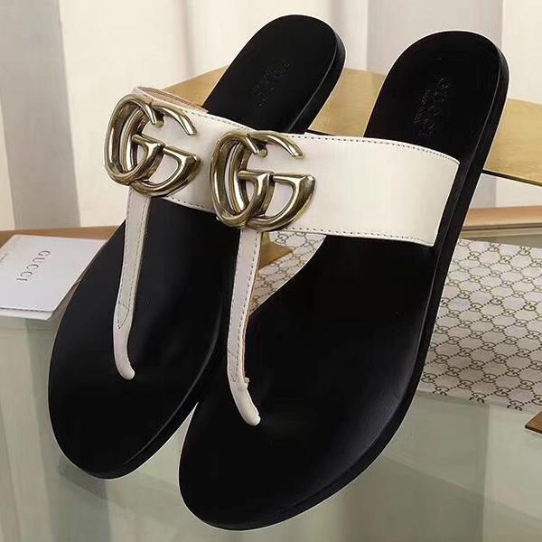 Image of GG Woman Men Fashion Slippers Sandals Flat Shoes