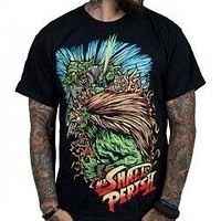 Indie Merch All Shall Perish Street Fighter Black Men'S T-Shirt Mens Summer Style Fashion Casual Tee