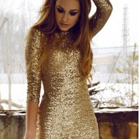SEQUINED LACE Sexy DRESS