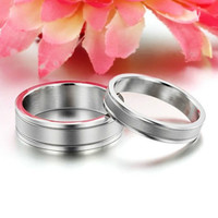 R027 316L Titanium Steel Promise Ring Love Couple Wedding Bands gift Lover Gift
