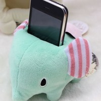 Cute San-x Sentimental Circus Elephant Plush Phone Holder