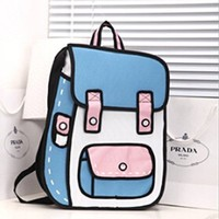 Cartoon Design PU Leather Crossbody Handbag Tote Bags Purse F