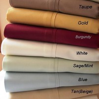 Twin XL Solid 300 Thread count 100% Combed cotton Sheet sets