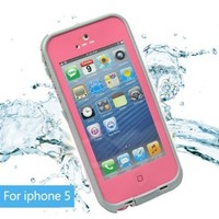 Leang Waterproof Shockproof and Dirtproof Case for iPhone 5 Life Dirt Proof Case Pink + Cleaning Cloth:Amazon:Cell Phones & Accessories