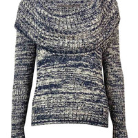 Guess Women's Cowl Neck Marled Knit Sweater