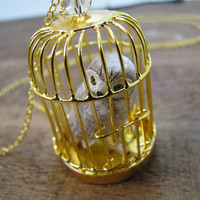 Hedwig Owl Harry Potter Inspired Snowy Owl Necklace by CuteAbility