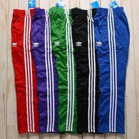 Adidas Women Loose Exercise Sport Pants Trousers Sweatpants