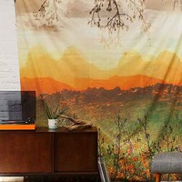 Magical Thinking Mountain Sunshine Tapestry- Yellow One Size- Yellow One
