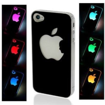 Amazon.com: NEW Sense Flash Light Case Cover for Apple iPhone 4, 4S and 4G LED LCD Auto Color Change: Cell Phones & Accessories