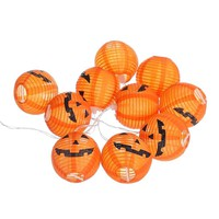 Halloween 10 LED String Fairy Lights Pumpkin Lantern Battery Powered for Indoor Outdoor Party Garden Decoration Ornaments
