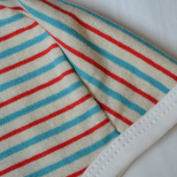 Striped baby pilot hat. - PICK any SIZE-  Baby hat with ties.    (Made by lippy brand)