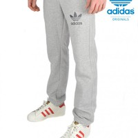 ADIDAS ORIGINALSESSENTIAL SLIM FIT SWEATPANTS - GREY