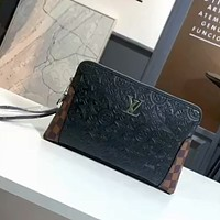 LV 2020 new men's knitted embroidered logo clutch bag