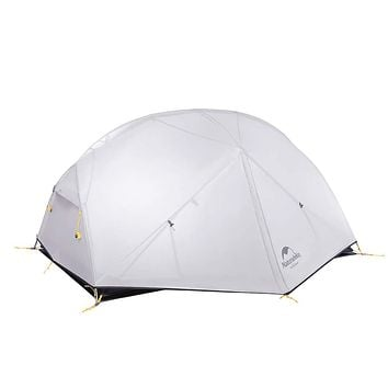 Naturehike Mongar 2 Person Backpacking Tent 3 Season Free-Standing Lightweight Hiking Tent with Tent Fly for Outdoor Activities Gray