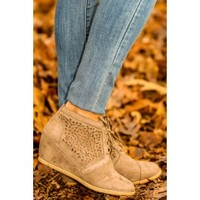 As I Was Saying Booties-Taupe