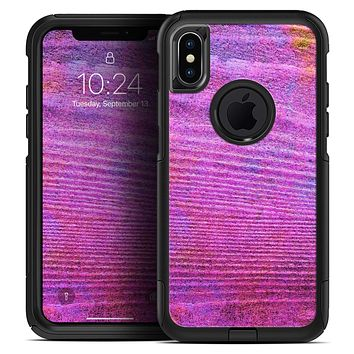 Neon Pink Dyed Wood Grain - Skin Kit for the iPhone OtterBox Cases