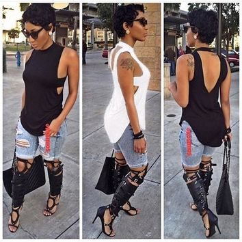 Fashion Women Summer Vest Top Sleeveless Blouse Casual Tank Tops T-Shirt NEW = 5618779521